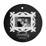 Chalkboard round ornament- 2 sides - Round Ornament (Two Sides)