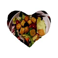 Salad 16  Premium Heart Shape Cushion  by Contest1852090
