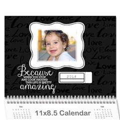 Chalkboard Love   Inspirational Any Theme  Wall Calendar By Mikki   Wall Calendar 11  X 8 5  (18 Months)   Rn9cmdrfrity   Www Artscow Com Cover
