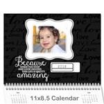 Chalkboard Love - inspirational-any theme- wall calendar - Wall Calendar 11  x 8.5  (18 Months)
