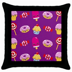 Sweet Dreams Black Throw Pillow Case by Contest1771648