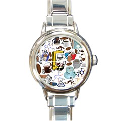 Just Bring Me Coffee Round Italian Charm Watch by StuffOrSomething