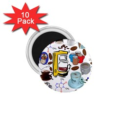 Just Bring Me Coffee 1.75  Button Magnet (10 pack)