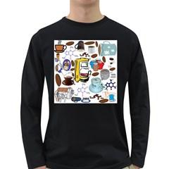 Just Bring Me Coffee Men s Long Sleeve T Shirt (dark Colored)