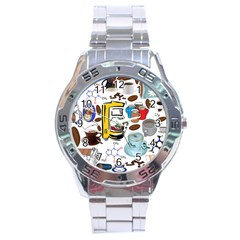 Just Bring Me Coffee Stainless Steel Watch by StuffOrSomething