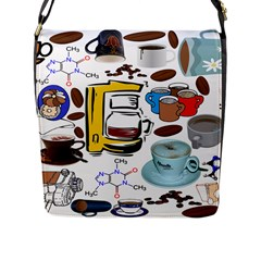 Just Bring Me Coffee Flap Closure Messenger Bag (large) by StuffOrSomething
