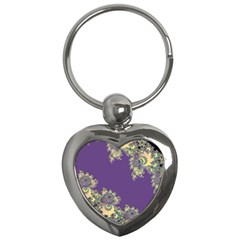Purple Symbolic Fractal Key Chain (heart) by UROCKtheWorldDesign