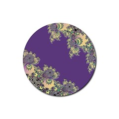 Purple Symbolic Fractal Drink Coasters 4 Pack (round) by UROCKtheWorldDesign