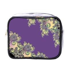 Purple Symbolic Fractal Mini Travel Toiletry Bag (One Side)