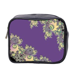 Purple Symbolic Fractal Mini Travel Toiletry Bag (Two Sides) by UROCKtheWorldDesign