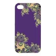 Purple Symbolic Fractal Apple Iphone 4/4s Hardshell Case by UROCKtheWorldDesign