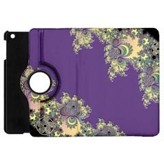 Purple Symbolic Fractal Apple Ipad Mini Flip 360 Case by UROCKtheWorldDesign