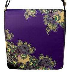 Purple Symbolic Fractal Flap Closure Messenger Bag (small) by UROCKtheWorldDesign