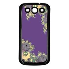 Purple Symbolic Fractal Samsung Galaxy S3 Back Case (black) by UROCKtheWorldDesign