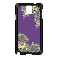 Purple Symbolic Fractal Samsung Galaxy Note 3 Case (black) by UROCKtheWorldDesign