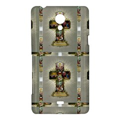 Easter Cross Sony Xperia T Hardshell Case  by EndlessVintage