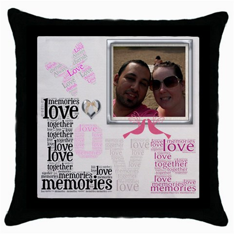 Lovely Cushion By Chatting   Throw Pillow Case (black)   K4hojfelqty1   Www Artscow Com Front