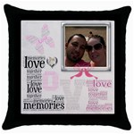 Lovely cushion - Throw Pillow Case (Black)