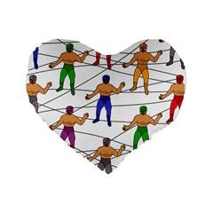 Lucha Libre 16  Premium Heart Shape Cushion  by Contest1760572