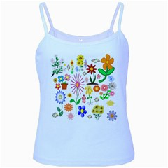Summer Florals Baby Blue Spaghetti Tank by StuffOrSomething
