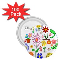 Summer Florals 1 75  Button (100 Pack) by StuffOrSomething