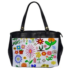 Summer Florals Oversize Office Handbag (one Side)