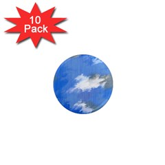 Abstract Clouds 1  Mini Button Magnet (10 Pack) by StuffOrSomething