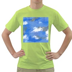 Abstract Clouds Men s T Shirt (green) by StuffOrSomething