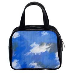 Abstract Clouds Classic Handbag (two Sides) by StuffOrSomething