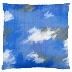 Abstract Clouds Large Cushion Case (single Sided)  by StuffOrSomething