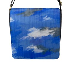 Abstract Clouds Flap Closure Messenger Bag (large) by StuffOrSomething
