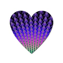 Rainbow Fan Magnet (heart) by UROCKtheWorldDesign