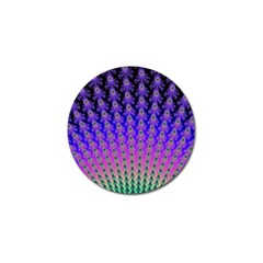 Rainbow Fan Golf Ball Marker 4 Pack by UROCKtheWorldDesign
