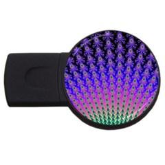 Rainbow Fan 4gb Usb Flash Drive (round) by UROCKtheWorldDesign