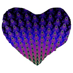Rainbow Fan 19  Premium Heart Shape Cushion by UROCKtheWorldDesign