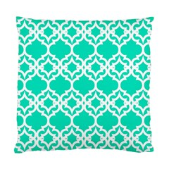 Lattice Stars In Teal Cushion Case (two Sided)  by Contest1878042