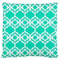 Lattice Stars In Teal Large Cushion Case (single Sided)  by Contest1878042