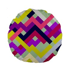 Pink & Yellow No  1 15  Premium Round Cushion  by Contest1878042