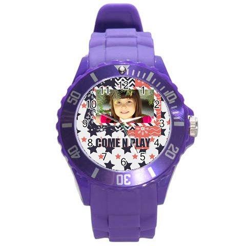 Kids By Kids   Round Plastic Sport Watch (l)   O46n01v1lm4p   Www Artscow Com Front