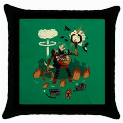 dino wars. Black Throw Pillow Case by Contest1878722