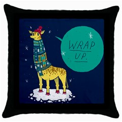 wrap up. Black Throw Pillow Case by Contest1878722