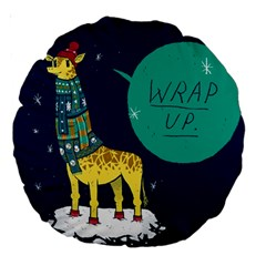 Wrap Up  18  Premium Round Cushion  by Contest1878722