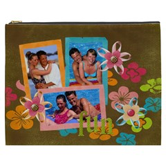 Tropical Fun Flowers Xxxl Cosmetic Bag By Mikki   Cosmetic Bag (xxxl)   He25azufcdq6   Www Artscow Com Front