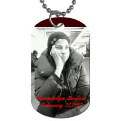 Mother And Daughter Team By Quiana Ganter   Dog Tag (two Sides)   Onip8rebk2v9   Www Artscow Com Front
