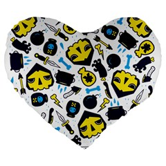 Assassins Pattern 19  Premium Heart Shape Cushion by Contest1853704