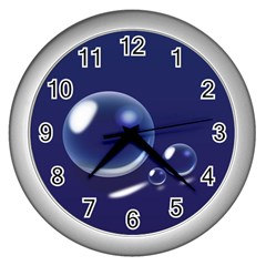 Bubbles 7 Wall Clock (silver)