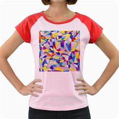 Fractured Facade Women s Cap Sleeve T Shirt (colored) by StuffOrSomething