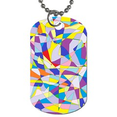 Fractured Facade Dog Tag (two Sided)  by StuffOrSomething