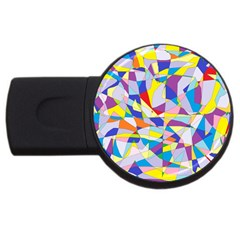 Fractured Facade 2GB USB Flash Drive (Round) by StuffOrSomething