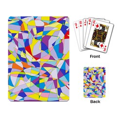 Fractured Facade Playing Cards Single Design by StuffOrSomething